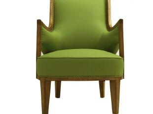 【汉资 西洋镜】苹果绿沙发 artdeco 摩登 进口PU 单人扶手沙发,沙发,