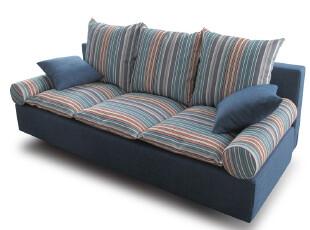 卡布奇 客厅三人布艺折叠沙发床 地中海宜家沙发床 可拆洗 C69,沙发,