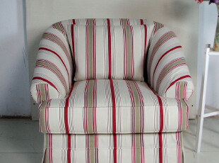 艾米尼奥简约现代地中海欧式田园宜家布艺舒适单人位沙发A1-030默,沙发,