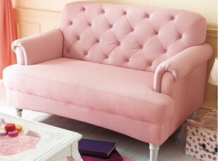 出口日本原单 精致沙发 布艺沙发 粉色沙发 双人沙发 休闲沙发,沙发,