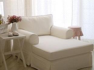 芭莎岛 白色极简沙发贵妃沙发可改面料宜家贵妃榻,沙发,