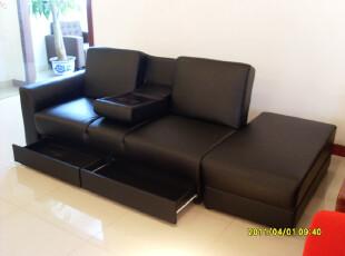 外贸原单 宜家风格 多功能带储物沙发 双人沙发床 皮艺沙发,沙发,
