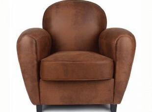 水样儿 麦克维德 欧式复古仿旧麂皮绒客厅卧室办公单人沙发包物流,沙发,