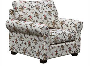 布艺卧室小户型韩式休闲乡村田园碎花单人沙发 组合 椅宜家家居,沙发,