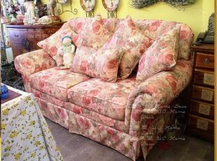 秒杀【7.9折】包邮 出口西班牙 田园花朵欧式双人沙发 布艺沙发,沙发,