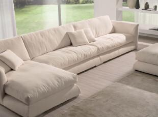 驰辰886休闲沙发布艺组合沙发 客厅沙发羽绒沙发转角沙发热卖,沙发,