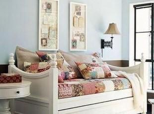 含实拍!地中海家具 实木 白色恋人 坐卧两用床 沙发床【预定】,沙发,