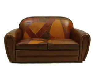 汉资 北欧设计】头层全牛皮/北欧/Maison/超舒适双人沙发/拼接,沙发,