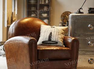 北欧表情/顶级品质家具/国际大牌同步/罗凯堡全牛皮仿旧沙发,沙发,