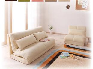 特价包邮 单人日式组合布艺多功能1.2米双人宜家懒人折叠沙发床 X,沙发,