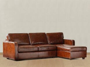 顶级品质家具/国际大牌同步/美式乡村/罗凯堡全牛皮仿旧转脚沙发,沙发,