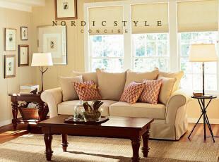 厂家直销高档美式风格客厅单人双人三人全拆洗布艺沙发威尔士,沙发,