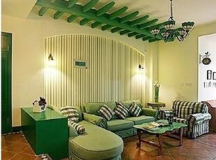 绿色格子苏格兰风情 宜家风格 地中海沙发 客厅组合布艺沙发,沙发,