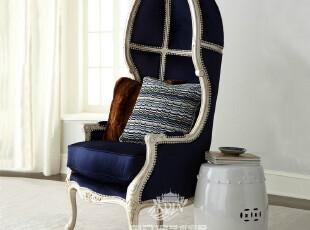 【天猫原创】奥汀堡艺术家具欧式赫尔墨斯布艺休闲沙发椅A666601,沙发,
