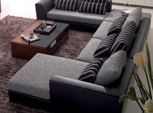 装典 现代时尚 沙发 客厅 皮配布艺沙发 转角组合 包物流 M15,沙发,