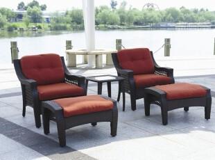 沙发躺椅 户外桌椅庭院家具酒店沙滩桌椅沙发套装休组合 5件套,沙发,