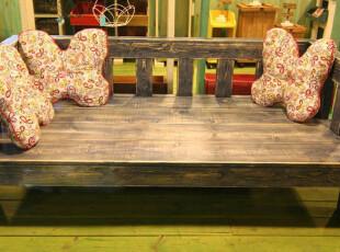 榕树下-地中海实木家具 玫瑰乡村 做旧实木沙发 床榻 田园风格,沙发,