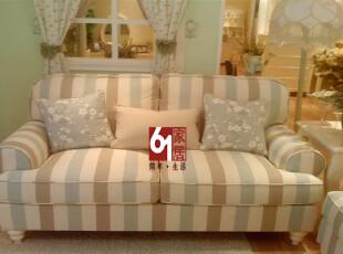 六一家居 奥立克家具 正品 经典韩国田园布艺沙发 SF01,沙发,