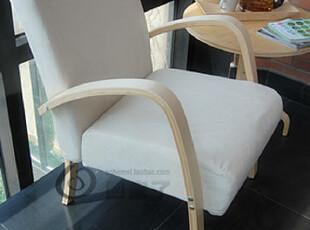 包邮 宜家布艺单人沙发/实木沙发/休闲沙发椅 时尚创意小沙发(白),沙发,