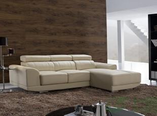 七匠家具 真皮沙发 客厅组合 头层牛皮 现代 转角沙发 正品牌s08,沙发,
