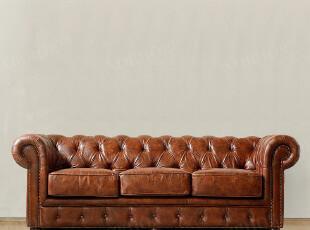 北欧表情/顶级品质家具/国际大牌同步/罗凯堡全牛皮仿旧古典沙发,沙发,