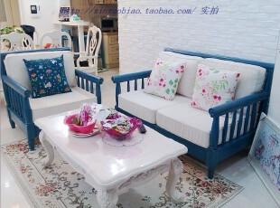 地中海风格家具 实木沙发 实木组合沙发 沙发椅,沙发,