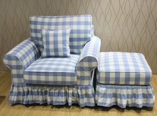 粤鑫东居 美式沙发 宜家沙发 地中海沙发 客厅组合沙发bb4 单人,沙发,