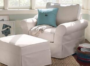 装典美家 布艺沙发 美式乡村 布艺沙发 单人沙发 布沙发 S71,沙发,