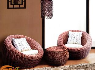 柳编沙发休闲懒人沙发 特价 单人 欧式 田园 懒骨头 休闲可爱,沙发,