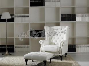 厂家直销单人沙发布艺沙发皮艺沙发现代简约时尚意恩家居,沙发,