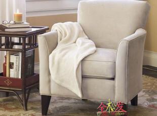 (仿PotteryBarn家具FSO061)Marcel单人沙发/超Harbor House,沙发,