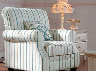 洛美特价大促销 新品上市 欧式田园 布艺沙发 单人沙发 TS599,沙发,