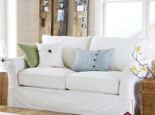 小户型美式沙发白色单人双人欧式组合布艺组合家居特价现代客厅,沙发,