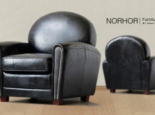 北欧表情/顶级品质家具/国际大牌同步/罗凯堡全牛皮仿旧沙发黑色,沙发,