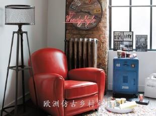 特价现货~出口欧洲LOFT风格现代简约实木真皮软包面包沙发-多色,沙发,