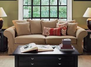 客厅特价 田园布艺沙发 地中海风情沙发 爱克托双人沙发 厂家直销,沙发,