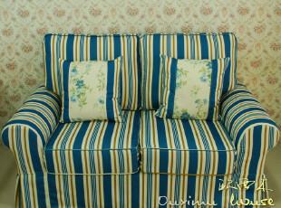 特价●欧西木 沙发组合 田园欧式复古条纹 休闲客厅沙发 思系列6,沙发,