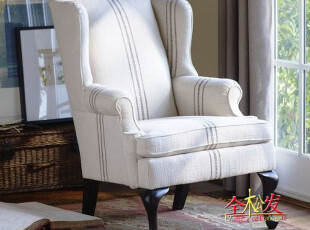 (仿PotteryBarn家具FSO047)Gramercy沙发椅/超Harbor House,沙发,