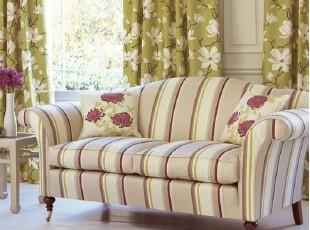 粤鑫家居地中海风格三人沙发325 高贵素雅布艺客厅组合美式沙发,沙发,