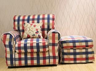 粤鑫家居美式沙发地中海沙发Q34爱汀堡布艺单人田园特价客厅组合,沙发,