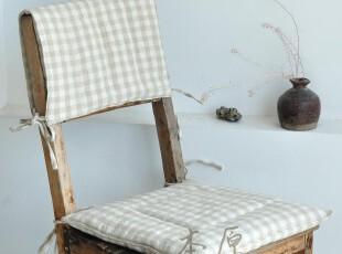 本原 手工 格子亚麻 椅子垫 坐垫 沙发垫 餐椅垫 夏天薄款可定制,沙发垫,