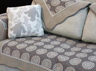 小艾 大圆满 绗缝欧式沙发垫防滑组合沙发坐垫飘窗垫布艺夏季贵妃,沙发垫,