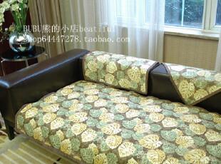外贸秋冬绗缝沙发垫坐垫布艺田园沙发垫沙发巾飘窗垫贝竹多尺寸,沙发垫,