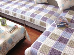 【蓝色爱琴海】包邮高档纯棉衍缝布艺沙发垫飘窗垫坐垫手感超好,沙发垫,