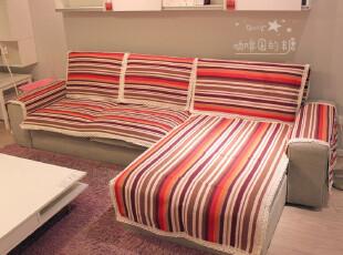 彩虹纯棉*防滑欧式外贸田园贵妃沙发套/皮沙发垫/布艺坐垫,沙发垫,