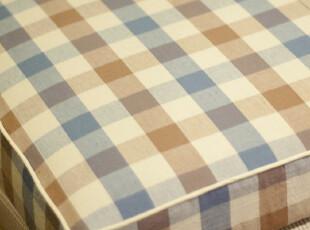 【3米家】飘窗垫定做/怀旧的棉布蓝格子,沙发垫,