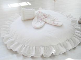 『韩国网站代购』悠然时光 第一眼恋上蕾丝花边圆型坐垫/蒲团,沙发垫,