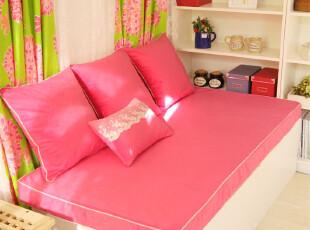 飘窗垫定做订做加厚坐垫田园海绵窗台垫子ZD1029浅米阳光,沙发垫,