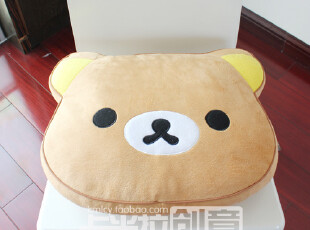 轻松熊 记忆海绵慢回弹坐垫 沙发垫 可爱 加厚办公室椅垫 包邮,沙发垫,