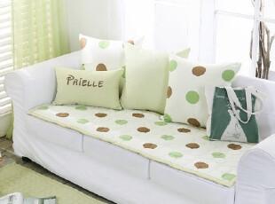 【Asa room】韩国进口代购 圆点纯棉沙发垫地毯爬行垫正品dc145-g,沙发垫,